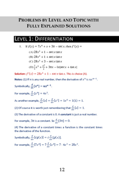 320 AP Calculus BC Problems Arranged by Topic and Difficulty Level
