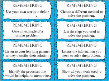 320 Critical Thinking MATH Task Cards for Differentiation Bloom's Verbs