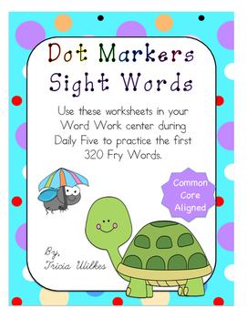 320 Dot Marker Fry Words