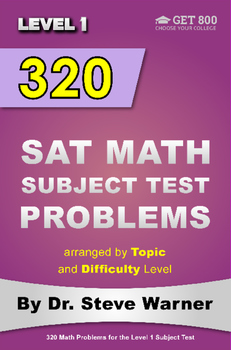 320 SAT Math Subject Test Problems Arranged By Topic And Difficulty Level (L1)