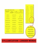 Syllabication – Longer Words Task Cards