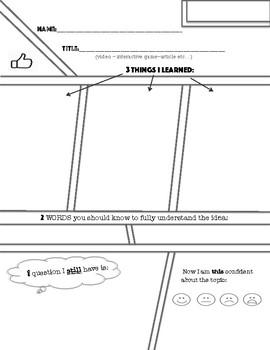 321 Exit Slip Reflection Sheets: Youtube Video, Math Game or Non-Fiction Article