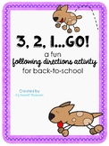 321 Go Back-to-School Activity for Following Directions