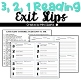 3,2,1 Reading Exit slip
