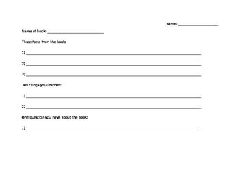 3,2,1 Reading Worksheet