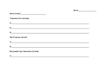 3,2,1 Reading Worksheet