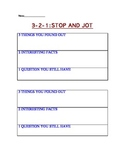321 STOP AND JOT-SUMMARIZATION ACTIVITY