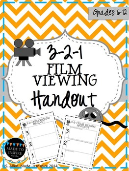 321 Student Handout for Viewing a Film or Movie