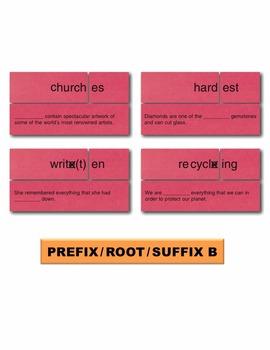 Prefix Root Suffix B Match Manipulatives