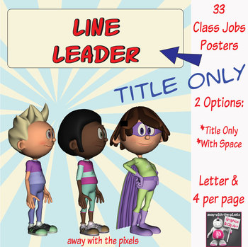 33 Superhero Class Jobs Posters, Letter Size & 4-Per-Page - Away With The Pixels