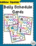 Classroom Daily Schedule Cards  - Colorful Rainbow Theme Classroom