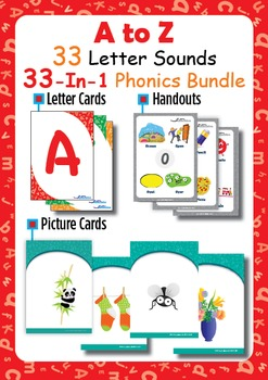 33-IN-1 BUNDLE - A to Z - 33 LETTER SOUNDS - PHONICS PACKAGE