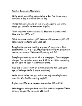 33 Math Journal Prompts