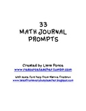 33 Math Journal Prompts