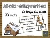 33 Mots Étiquettes du Temps des Sucres {Sugar Shack Word W