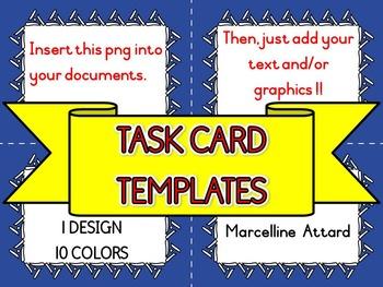 TASK CARD TEMPLATES: TASK CARDS CLIPART: SELLER'S KIT CLIPART