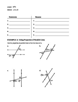3.3 Parallel Lines and Transversals (A)