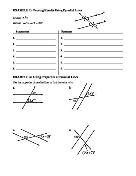 3.3 Parallel Lines and Transversals (B)
