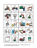 33 Picture Cards AND Center Signs made with Boardmaker for Autism/ ADHD