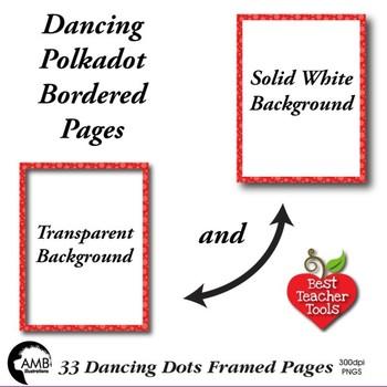 33 Polkadot Border, Dancing Dots Tone on Tone Papers AMB-1894