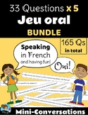 33 Questions: BUNDLE - Mini-Conversations Game *FRENCH* - Updated