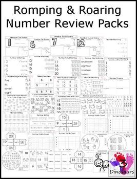 33 Romping & Roaring Number Packs