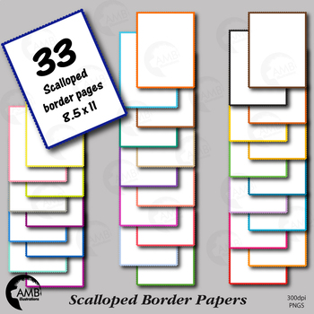 33 Scallop Border Tone on Tone Papers {Best Teacher Tools}