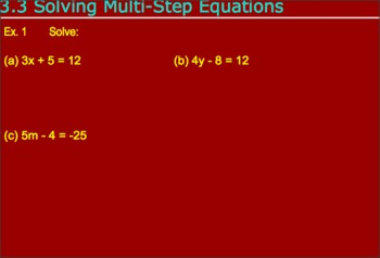 3.3 Solving Multistep Equations