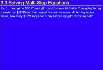 3.3 Solving Multistep Equations Day 2