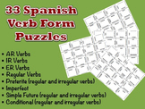 33 Spanish Verb Form Puzzles