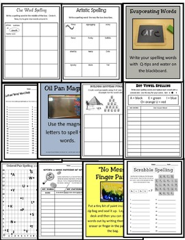 33 Spelling Stations and Seat Activities