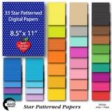 33 Star Digital Papers, Tone on Tone Color Papers {Best Teacher Tools} AMB-1896