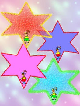 Labels - Stars - Girls and Boys - Clip Art - Personal or Commercial Use