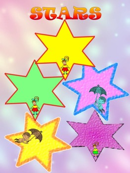 Ldlels - Stars - Girls and Boys - Clip Art - Personal or C