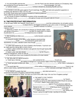 UNIT 6 LESSON 3. The Protestant Reformation GUIDED NOTES