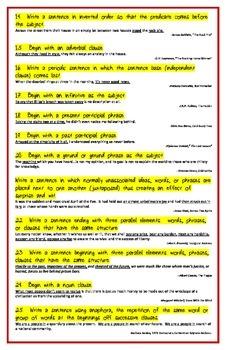 33 Ways To Write Sentences