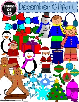 31 December Christmas Clipart Images