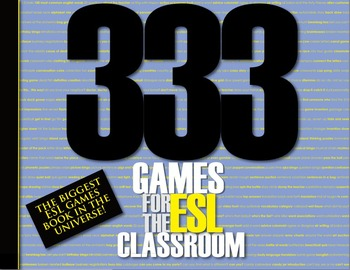 English ESL Classroom Activity & Games Book - 333 Games fo