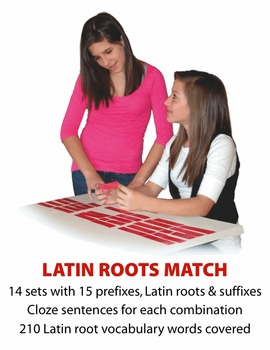 Latin Roots Match Manipulatives & Task Cards