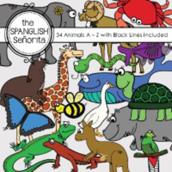 Animals A - Z {Digital Clip Art for Commercial Use}
