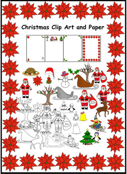 34 Christmas clip art and paper in png format with transparent backgrounds