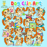 34 Dog / Puppy clip art images in educational settings - C