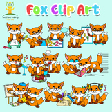 34 Foxes / Animal clip art images in educational settings