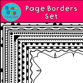 17 Fun Page Borders/Frames Set #1  - Commercial Use