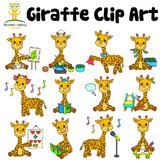 34 Giraffe clip art images in educational settings - Color