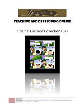 34 Original Cartoons about School (clipart) TADO