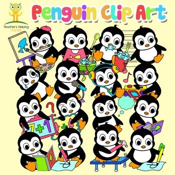 34 Penguin clip art images in educational settings - Colou