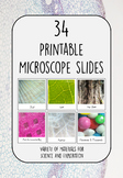 34 Printable Microscope Slide Cards for Investigations