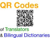 34 QR Codes of Translators and Bilingual Dictionaries