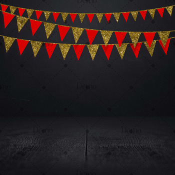 34 Red and Gold Glitter Party Garland Overlay Digital Images